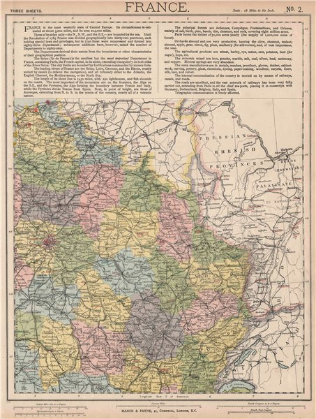 Associate Product NE FRANCE w/o Alsace Lorraine. Champagne Picardy Burgundy Nord.LETTS 1889 map