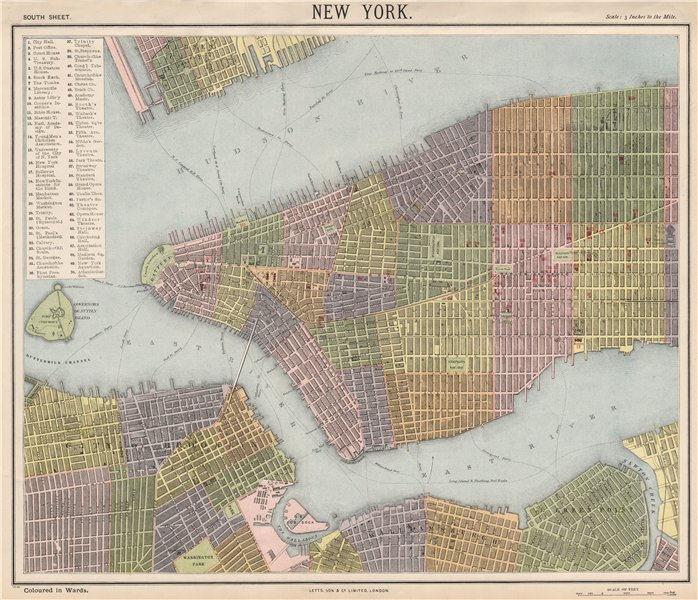 Manhattan brooklyn map