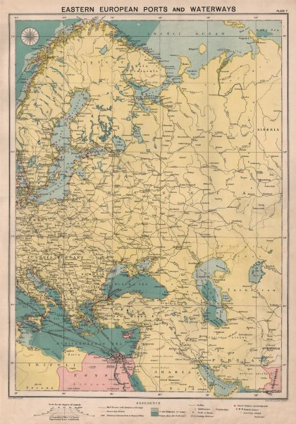Associate Product Eastern Europe sea chart Ports Lighthouses mail route Black Sea Baltic 1918 map