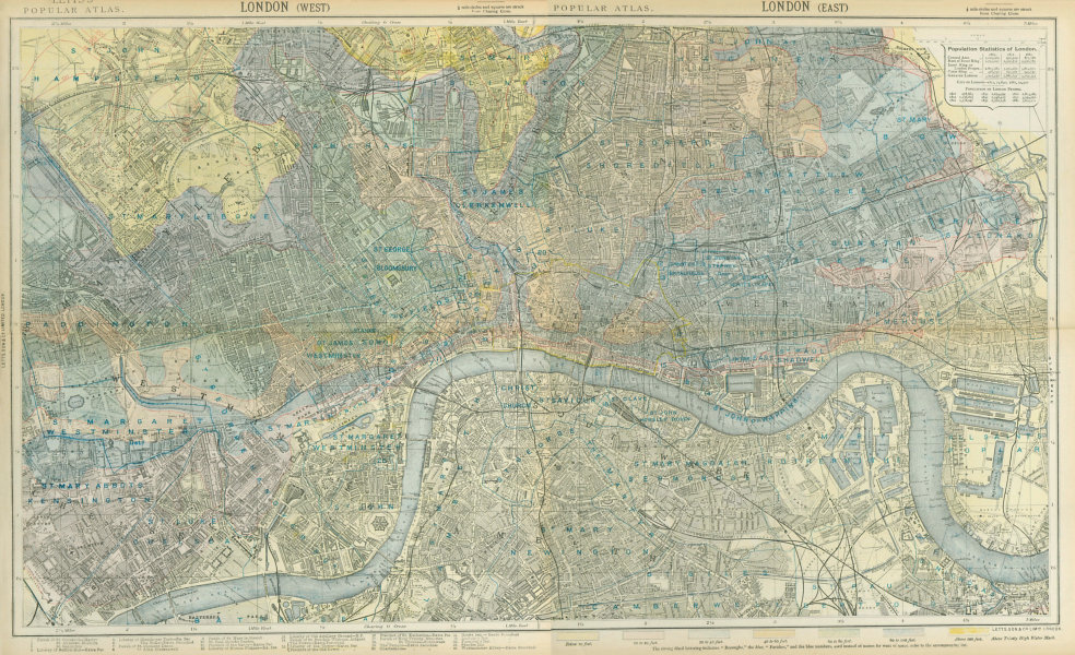Associate Product LONDON town city plan. Underground railways parishes relief. LETTS 1883 map
