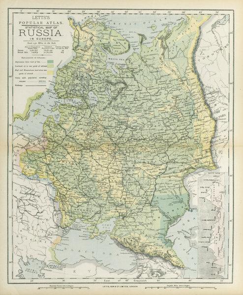 Associate Product RUSSIA. Eastern Europe. Ukraine Belarus Baltics Finland Georgia. LETTS 1883 map