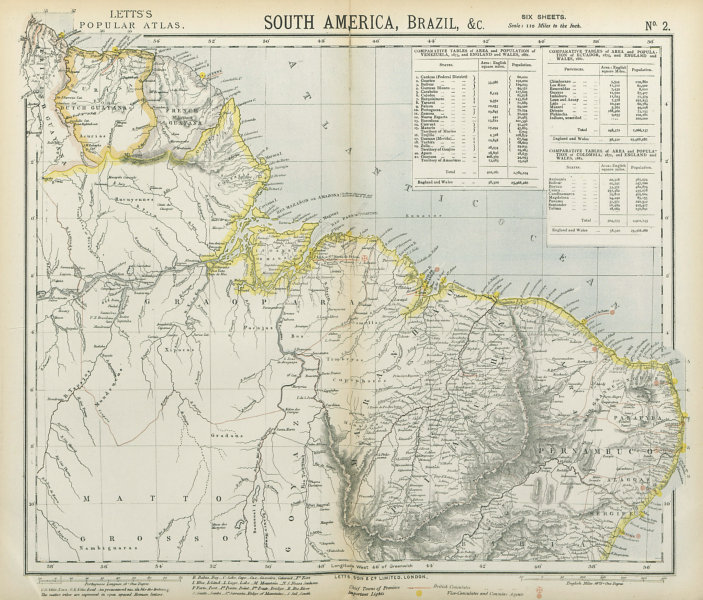 Associate Product NORTH BRAZIL & GUYANAS. Lighthouses. Graopara Surinam Natal. LETTS 1883 map