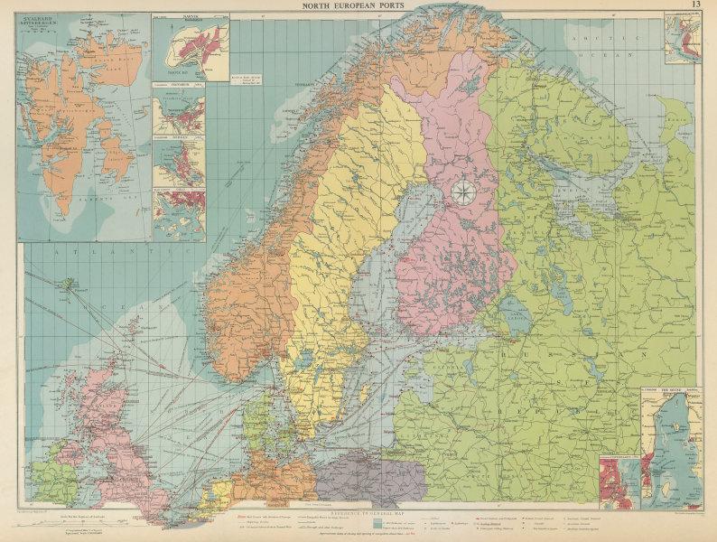 Associate Product Scandinavia Russia sea chart. Ports lighthouses. Arctic Ocean Bothnia 1959 map