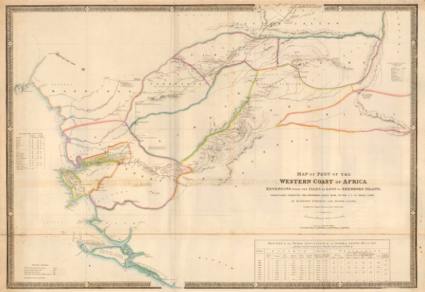 Associate Product Part of the Western Coast of Africa…' by James Wyld. Sierra Leone 1840 old map