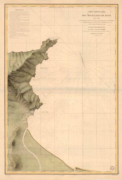 Associate Product Carte Particulière des Mouillages de Bone' Dépôt de la Marine. Annaba 1834 map