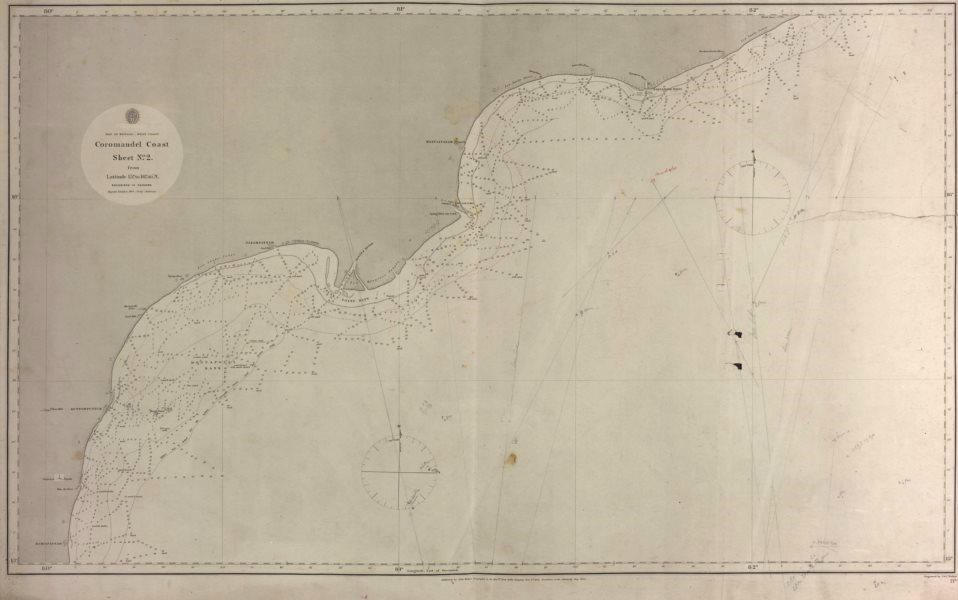 Associate Product Coromandel Coast nautical sea chart. East India Company. Andhra Pradesh 1864 map