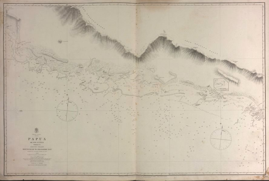 Associate Product British New Guinea South Coast. Round Head. Admiralty sea chart 1880 old map