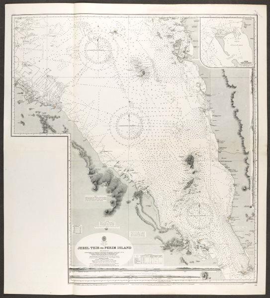 Associate Product Red Sea. Bab-el-Mandeb strait.Admiralty nautical sea chart. Yemen 1930 old map