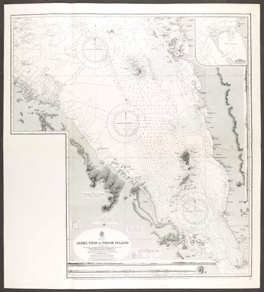 Associate Product Red Sea. Bab-el-Mandeb Straight. Admiralty nautical sea chart. Eritrea 1930 map