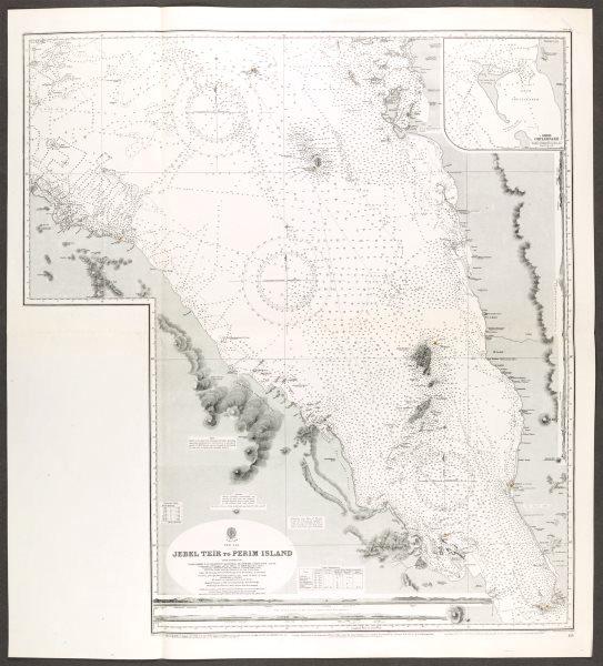 Associate Product Red Sea. Jebel Teir Perim Island. Admiralty nautical sea chart. Eritrea 1930 map