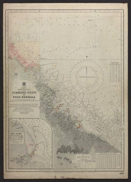 Associate Product Sumatra NE Coast Belawan Medan Pulo Berhala. Admiralty sea chart 1921 old map