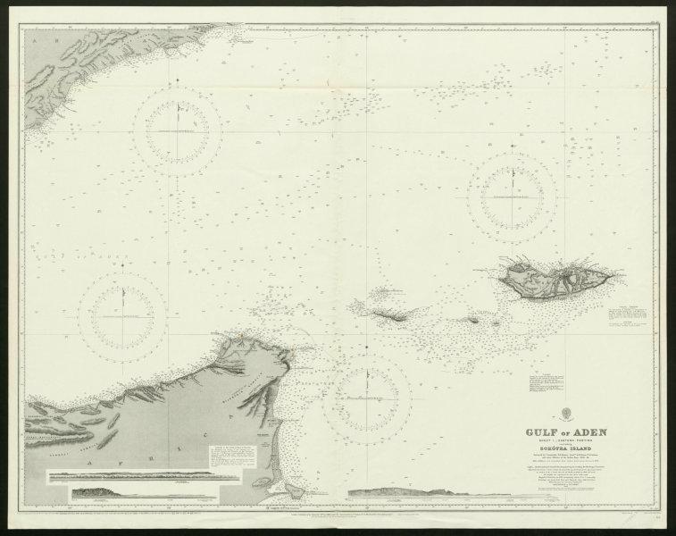 Associate Product Gulf of Aden. Yemen Somalia Socotra. Admiralty nautical sea chart 1929 old map