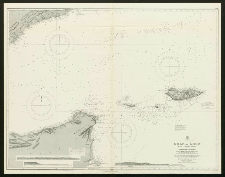 Associate Product Gulf of Aden. Yemen Somalia Socotra. Admiralty nautical sea chart 1930 old map