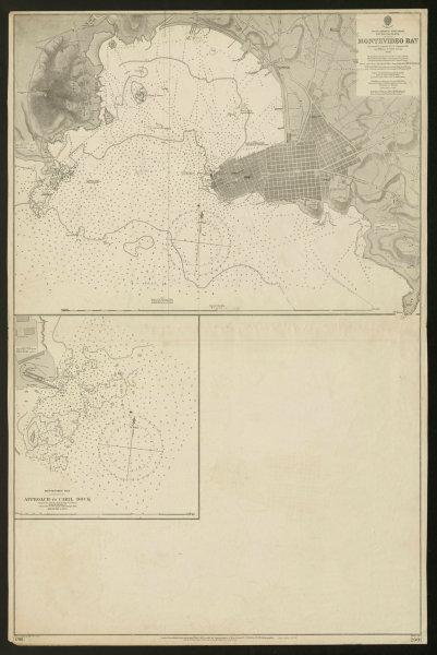 Associate Product Montevideo Bay & town plan. Cibil dock. Uruguay. Admiralty sea chart 1902 map