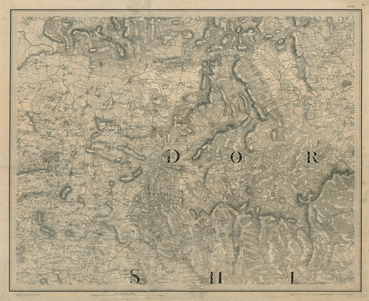 Associate Product North Dorset & south Somerset. Yeovil Crewkerne. OS sheet map 66x81cm MUDGE 1811