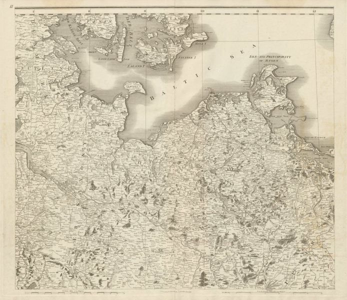 Associate Product North east Germany. Schleswig-Holstein Mecklenburg-Pomerania. CHAUCHARD 1800 map