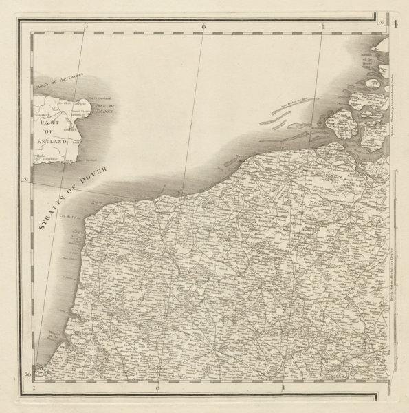 Associate Product Northern France. Nord Pas-de-Calais. Western Belgium. CHAUCHARD 1800 old map