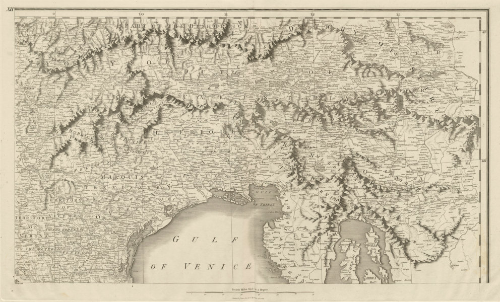 Associate Product Eastern Alps. North East Italy Tyrol Istria Western Slovenia. CHAUCHARD 1800 map