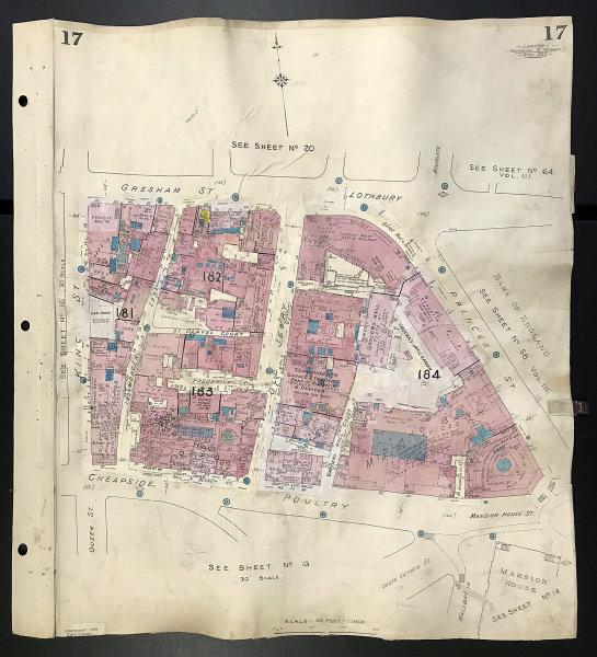 Associate Product London EC2V EC2R EC4N Old Jewry Princes Street Gresham St Poultry GOAD 1942 map