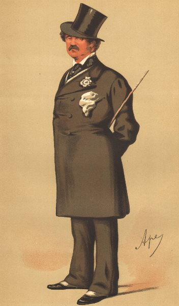 Associate Product SPY CARTOON. Maj-Gen Lord Alfred Henry Paget 'The Clerk Marshal'. Staffs. 1875