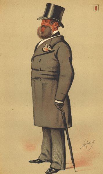 Associate Product SPY CARTOON. Sir Henry Josias Stracey 'A country gentleman'. Norfolk. Ape. 1875