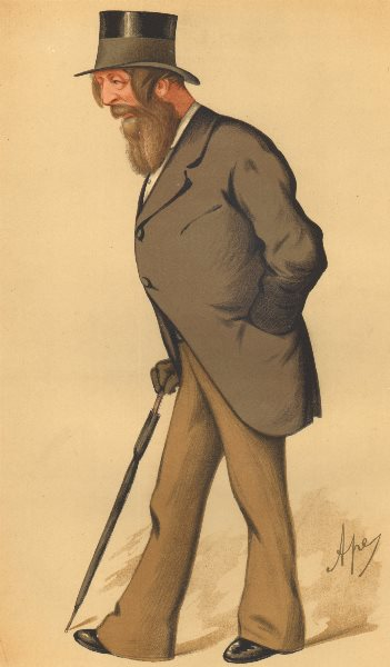 Associate Product VANITY FAIR SPY CARTOON. Frederick Acclom Milbank 'Yorkshire'. Yorks. Ape. 1875