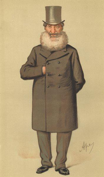 VANITY FAIR SPY CARTOON. Philip Henry Muntz 'Birmingham'. Warcs. By Ape. 1875