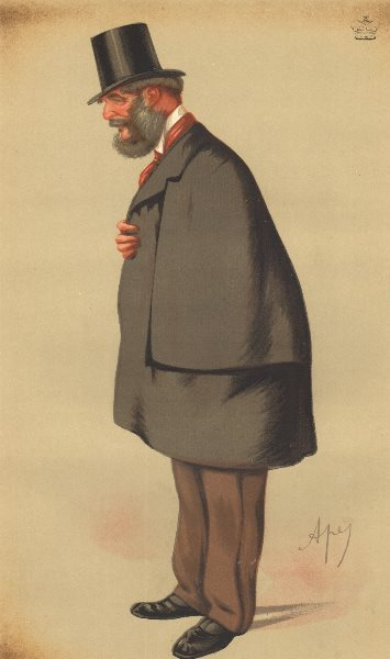 Associate Product VANITY FAIR CARTOON. Lord Forester 'The ex-Father of the House'. Shrops. 1875
