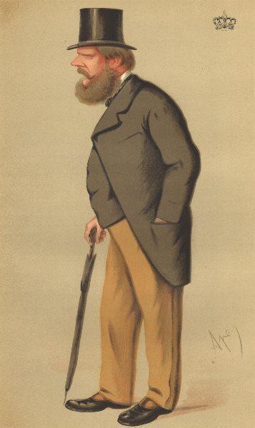 Associate Product VANITY FAIR SPY CARTOON. Prince Edward of Saxe-Weimar 'Guards'. Royalty. 1875