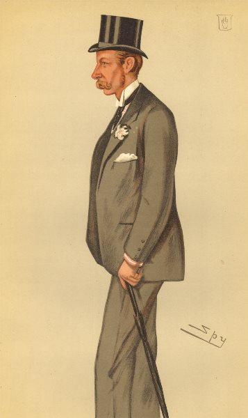 Associate Product VANITY FAIR SPY CARTOON. Sir George Chetwynd 'racing'. Warwickshire. Spy. 1885