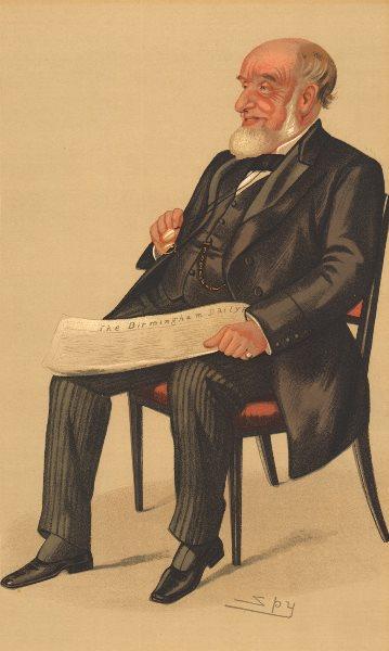 Associate Product VANITY FAIR SPY CARTOON. John Jaffray 'The Birmingham Daily Post'. Spy. 1890