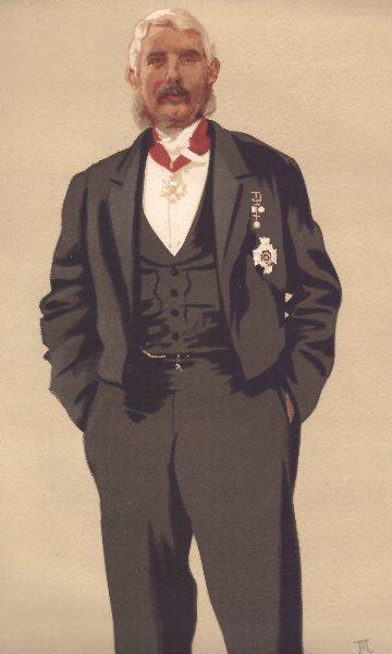 Associate Product SPY CARTOON. Gen Sir FP Haines 'Commander in chief in India'. Militaria. 1876
