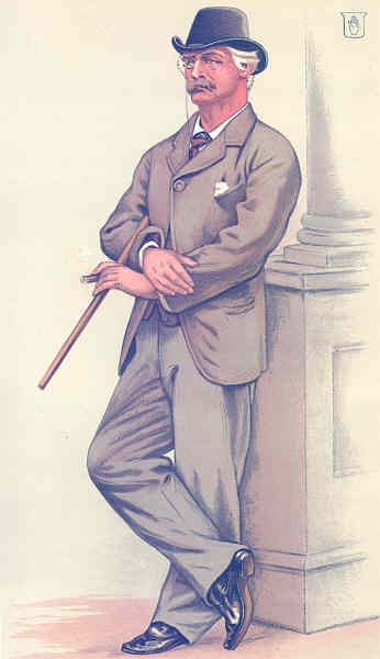Associate Product SPY CARTOON. Sir Coutts Lindsay of Balcarres 'The Grosvenor Gallery'. 1883